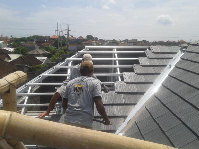 Jual Rangka Atap Baja Ringan Terpasang Bergaransi!
