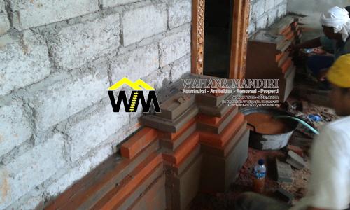 di bali pemasangan batu alam pada arsitektur rumah