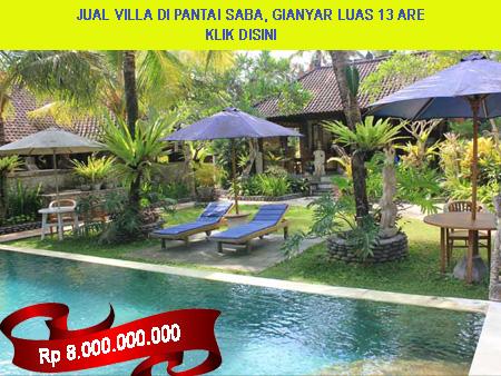 HOT Bali, Jual villa di pantai Saba, Gianyar